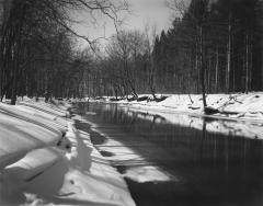 Snow Covered Banks, Rocky River Reservation, Ohio, March 5, 1978
