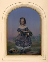 Portrait of a young girl, circa 1860,