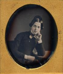J. G. Moffitt, New York, (attributed), Portrait of a young woman, circa 1855