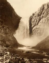 Great Falls of the Yellowstone River, 360 feet, Yellowstone National Park, Wyoming, ca. 1885