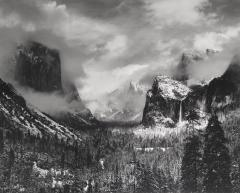 Clearing Winter Storm, Yosemite National Park, California, 1944