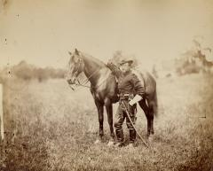 Captain Henry Page, assistant quartermaster, at Army of the Potomac Headquarters. August 1863